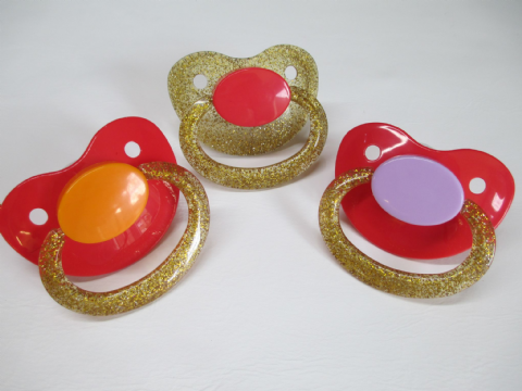 SALE -  Combo Coloured Mix and Match  Adult Sized Trio Pacifiers Set (P1)